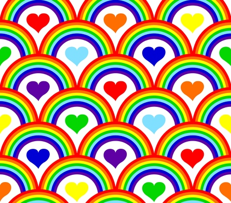 repetition: illustration of a seamless rainbow pattern