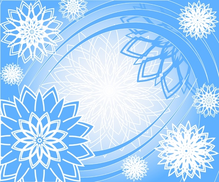 winding: illustration of a blue Christmas background with a snowflakes