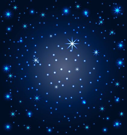 illustration of a night sky with stars Vector