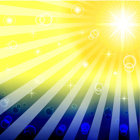 mesh: vector illustration of abstract sunny background made with mesh. eps10 Illustration