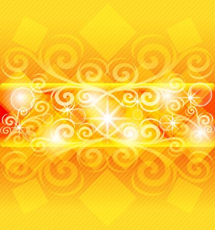 illustration of an abstract orange background.   Vector