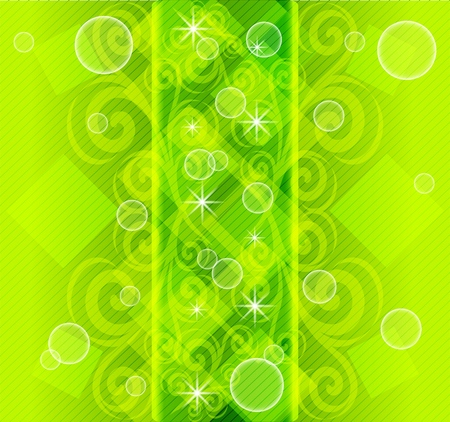 illustration of an abstract striped  green background.  Stock Vector - 8303563