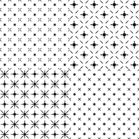textiles: set of abstract patterns. Illustration