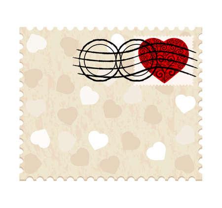 a valentine stamp Vector
