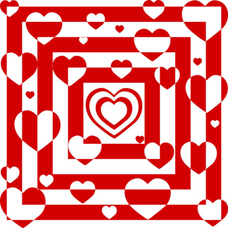 textiles: illustration of an abstract background with hearts