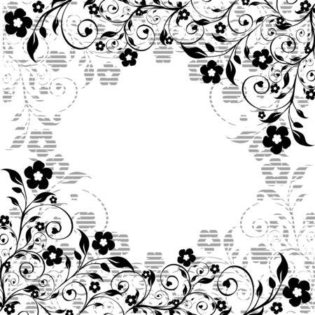 꽃 장식의 그림