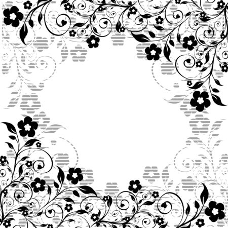 illustration of a floral ornament Illustration