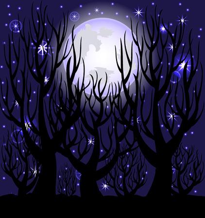 illustratie van een Nachtscène van de. Stock Illustratie