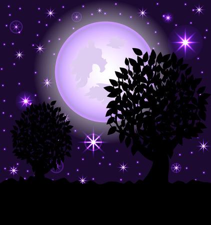 illustration of a night scene. Stock Vector - 8717203