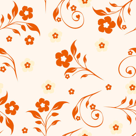 Vector illustration of a seamless floral pattern Stock Vector - 8842661