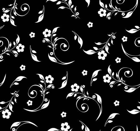 illustration of a seamless floral pattern Stock Vector - 9244753
