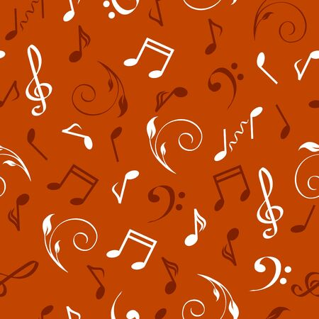 illustration of a seamless abstract musical background.  Ilustração