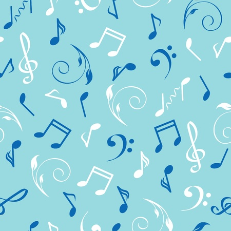illustration of a seamless abstract musical background. Vector