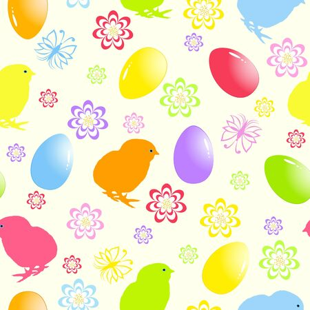 illustration of a seamless easter background