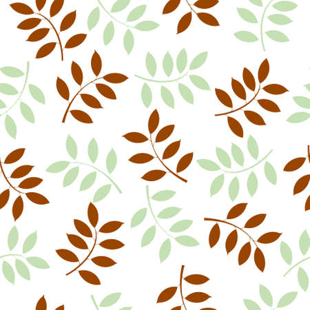 illustration of a seamless background made with leaves  Stock Vector - 9305159