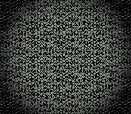 vector illustration of a metal texture with seamless floral pattern  Stock Vector - 9458384