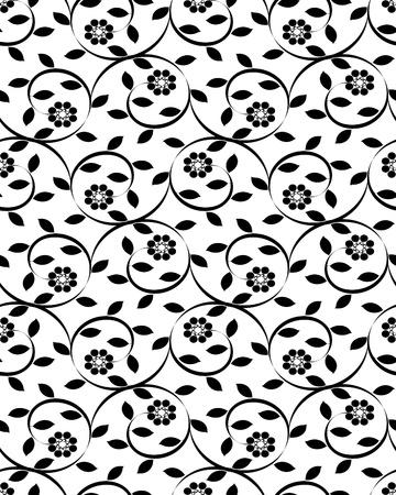 Vector illustratie van een bloemen naadloze achtergrond