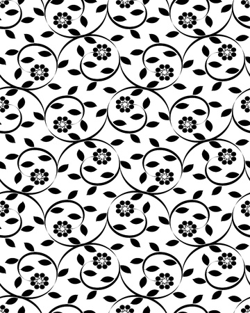 repetition: vector illustration of a floral seamless background Illustration