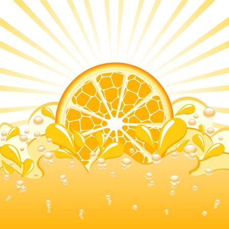 vector illustration of an orange splash Illusztráció