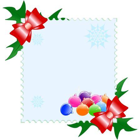 Vector illustration of a Christmas postcard Vector