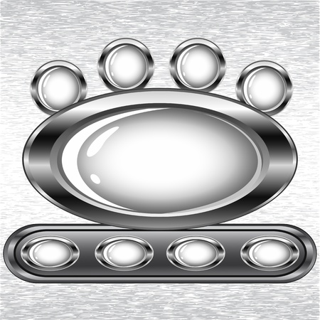 illustration of a set of buttons on a grunge background