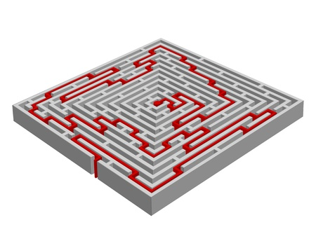 problem solved: Vector illustration of a  labyrinthmaze made with 3D effect