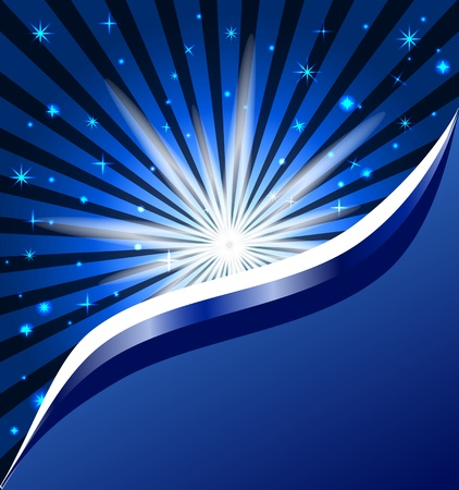 vector illustration of a background of  night sky with stars Vectores