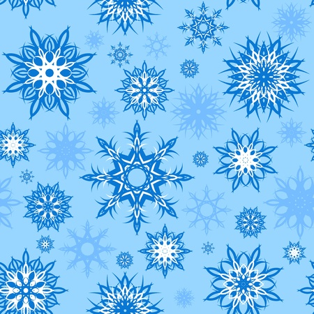 illustration of a seamless snowflakes background. Christmas theme. Stock Vector - 11170148