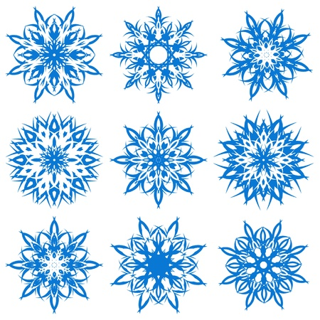 illustration of a set of snowflakes