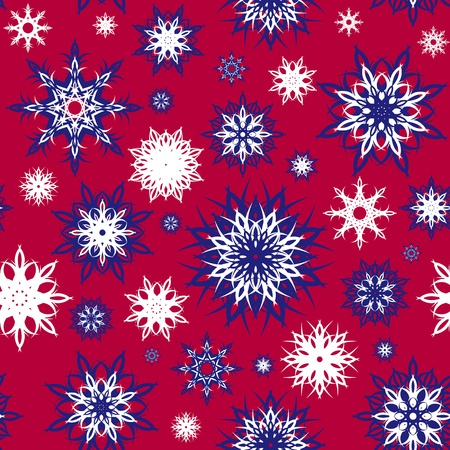 Colorful seamless snowflakes background. Christmas theme. vector illustration. Vector