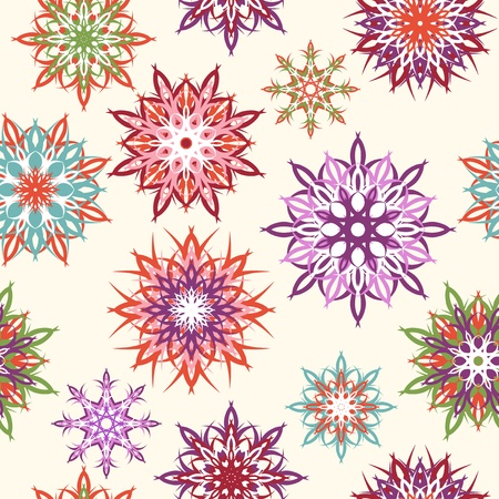 Vector illustration of a floral seamless pattern  Vector