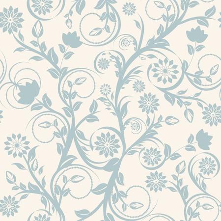 Vector illustratie van een naadloze florale versiering.