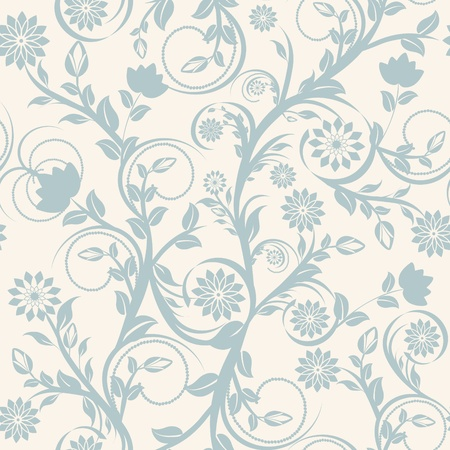 Vector illustration of a seamless floral ornament. Vector