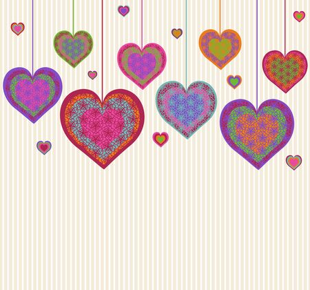 illustration of a heart background. Valentine Vector