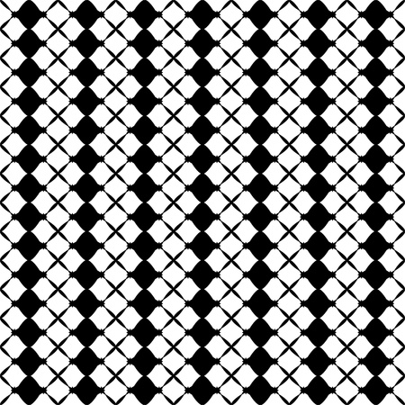 흰색 배경에 추상 원활한 패턴의 그림 일러스트