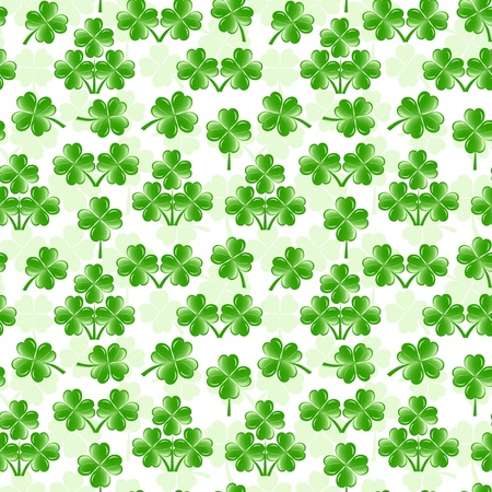 vector illustration of seamless pattern with four leaves clover Stock Vector - 11960186
