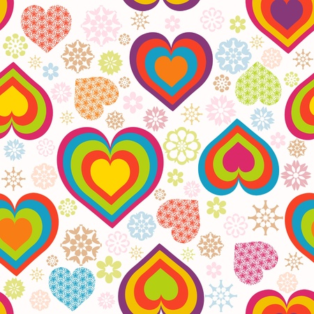 Vector illustration of a seamless heart pattern. Valentines Day theme Vector