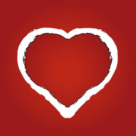 roztrhaný: vektorové ilustrace srdce z červeného roztřepený papír Ilustrace