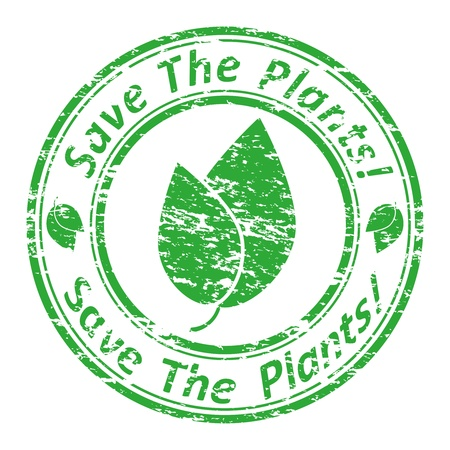save planet: illustration of a grunge rubber  stamp with the text