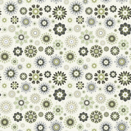 edges: flower seamless pattern.   Illustration