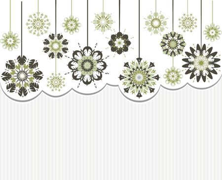 illustration of an abstract flowers on striped background Çizim