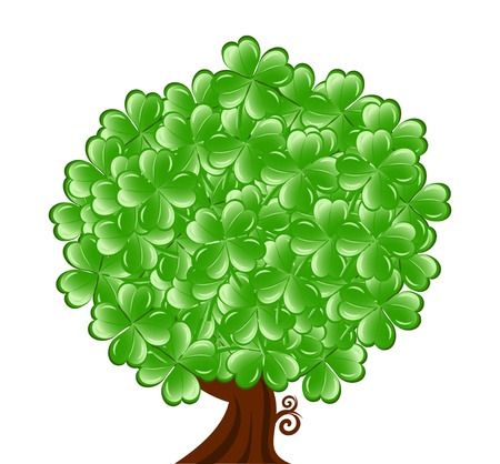 patric: illustration of a  tree for St. Patrick Illustration