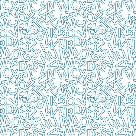 vector illustration of seamless pattern with letters