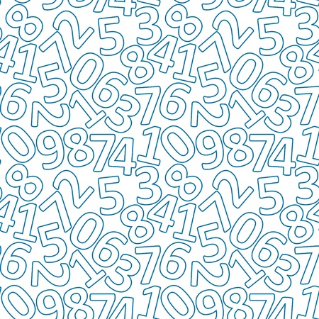 vector illustration of seamless pattern with numbers