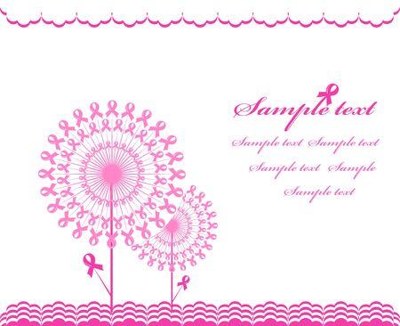 illustratie van een abstract roze Ondersteuning lint achtergrond
