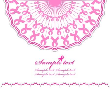 抽象ピンク サポート リボンの背景の図  イラスト・ベクター素材