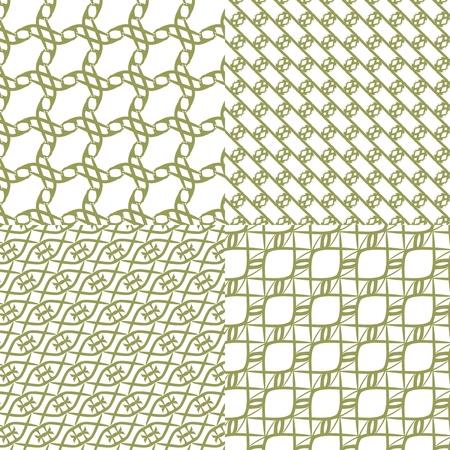 추상 단색 기하학적 원활한 패턴의 벡터 일러스트 레이 션 일러스트