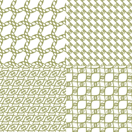 tilable: Illustrazione vettoriale di un astratto schema geometrico in bianco e nero senza soluzione di continuit� Vettoriali