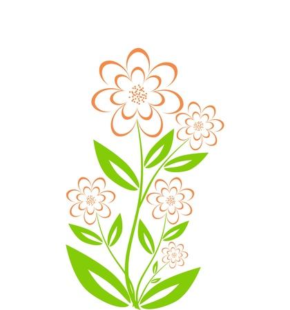 flower bouquet isolated on white background Ilustracja