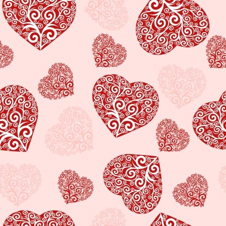 seamless hearts pattern. Ilustracja